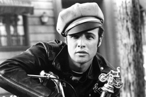 Actor-Marlon-Brando-rides-a-Triumph-motorcycle-in-a-scene-from-the-movie-The-Wild-One